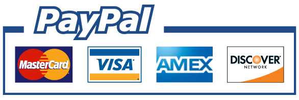 We accept Visa , MasterCard, American Express, Discover, all via Paypal